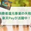消費者還元事業での失敗談・個人的には楽天Payが活躍中