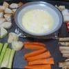 ホットプレートでチーズホンデュ