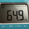 現在の体重と体脂肪率