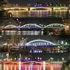 東京2020パラリンピックの隅田川ライトアップ後半:蔵前橋、厩橋、駒形橋、吾妻橋、そして東京スカイツリー