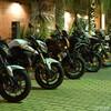 夜のみなとみらいでバイクの撮影会してきました。