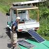 エネルギー自給自走号に乗って、山口から宮木先生いらっしゃる。