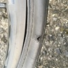 タイヤが思いっきり裂けたのでタイヤブートを使ってパンク修理をしてみた。