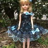 ブルーのキラキラドレス