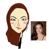 コロナウイルスに感染したタイの歌手リディアさんの似顔絵