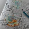 1】029レイラさん本番ページをホルベイン色鉛筆で塗り始めましたッ…!><b・FLORIBUNDAより