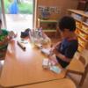 2歳児 素材を使った表現