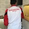 愛国心いっぱいのシンガポールからの夫婦