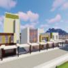 衰退する地方都市の駅前を作る【Minecraft】