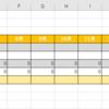 学生の出席率を半自動的に計算してくれるExcelシート