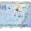 2017年08月24日 05時03分 種子島近海でM3.0の地震