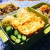 小エビ入りの厚焼き玉子とチーズちくわ揚げ弁当