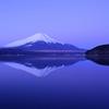 冬富士の朝焼け@山中湖