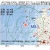 2017年10月04日 12時42分 秋田県沖でM3.1の地震