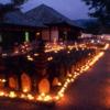 灯籠のあかりで幻想的な風景【元興寺 地蔵会万灯供養】(奈良市)