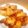 ピーマンの肉詰め、鶏唐揚げ、玉子焼き