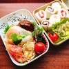 【お弁当】100記事達成!とロコモコ丼とちくわと紅生姜の天ぷら