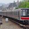 大阪メトロ、御堂筋線のラッピング編成を撮る。