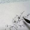 水墨画 梅の立体的な描き方。 其ノ二