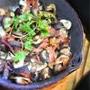 椎茸とベーコンのアヒージョ