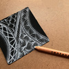 【Zentangle】ブラックタイルでゼンタングル