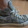 今やゴム製のシューレース(靴ひも)の時代。これならハイカットがスルっと履ける!