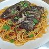 鯵のスパゲッティーニ と 自家製さつま揚げ