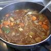 幸運な病のレシピ( 1293 )朝:カレー(最後のタケノコ)、塩サバ、鱒、味噌汁