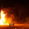 能登島「向田の火祭」は台風が接近していてもやる
