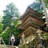 日本 背景は横蔵寺の三重塔