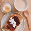 朝ご飯:業務スーパーのカシスジャムでシンプルジャムチーズトースト