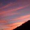 山間の夕焼け 12月