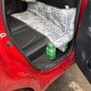 牛乳パックで車ををベットに★後部座席をフラットにしてみた