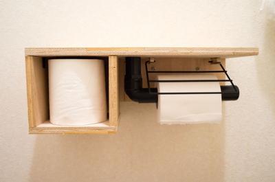 【賃貸DIY】1000円以内でカフェ風トイレットペーパーホルダーを自作しました!その2
