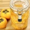 果物・お酢・氷砂糖を同じ重さずつ漬けるだけ「柿のフルーツビネガー」