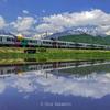 【大町・白馬・小谷】5月、田んぼの水鏡に映る北アルプスが絶景です。