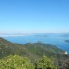 宮島・獅子岩展望台からの眺望と案内板:廿日市市