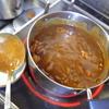 幸運な病のレシピ( 1257 )夜 :イワシ、モツカレー出来上がり、汁