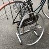 出張修理 自転車後輪タイヤ交換。