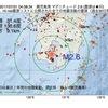 2017年07月31日 04時08分 鹿児島湾でM2.6の地震