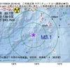 2017年09月24日 23時45分 三宅島近海でM3.1の地震