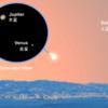 2月11日早朝、金星と木星の接近!