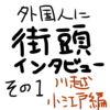 【日本を別の視点から】外国人に街頭インタビュー。川越・小江戸編