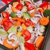 海外でオーブン料理に初挑戦!彩り野菜とチキンのグリル