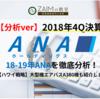 ANA 2018年度決算 増収増益 「18-19年ANAを徹底分析!」(2019年3月期)