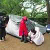 雨のデイキャンプ