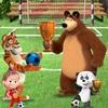 人気漫画シリーズで子供が楽しめる新作スマホゲーム『マーシャとくま サッカー』が配信開始!