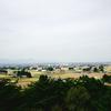 日本三大散居村のひとつ「胆沢の集落」を見分森公園展望台から眺める