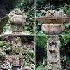 緑濃い生駒山中 密教道場 ユニークな像容の石仏たち【徳成寺】