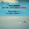 ANA上級会員のフライトボーナスマイルの威力は強烈!海外出張者にとって最も嬉しい特典かも!?